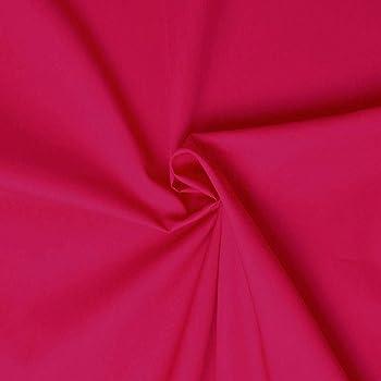 Tissu coton fushia Tissu popeline 100/% coton fushia Par coupon