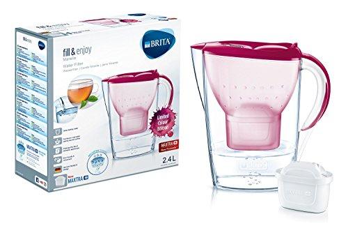 BRITA Marella–Jarra de Filtro, de plástico, plástico, Rose, Format Normal
