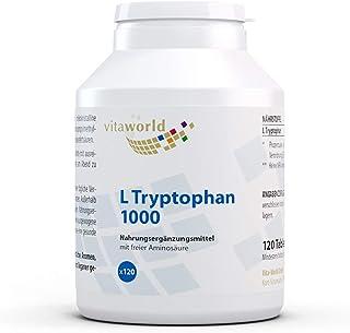 L-Triptófano 1000mg 120 Tabletas Vegetales Vita World Alemania L-Tryptophan Aminoácido Proteínas