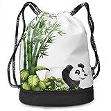 CHSUNHEY Zaino con coulisse,Tropical Plants Bamboo Trees Training Eco-Friendly Drawstring Bag Gym Eco-Friendly Luggage Drawstring Backpack Shoulder Bags