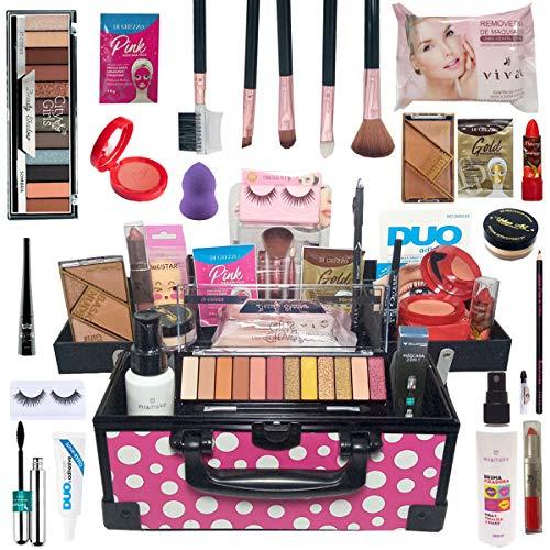 Maleta de Maquiagem Com Kit Maquiagem Top Profissional Makeup Top