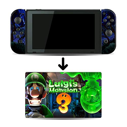 Luigi's Mansion 3 Game Skin for Nintendo Switch Console and Dock