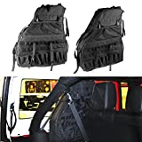 SUNPIE Roll Bar Storage Bag Cage for 2007~2018 Jeep Wrangler JK JL CJ TJ Rubicon 4-Door with Multi-Pockets & Organizers & Cargo Bag Saddlebag Tool Kits Holder