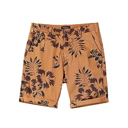 ShSnnwrl Pantaloncini da Uomo Estate Nuovi Pantaloncini Hawaii Uomo Moda Casual Spiaggia Vacanza Stampa Pantaloncini di Alta qualità Plus Size Abbigliamento di