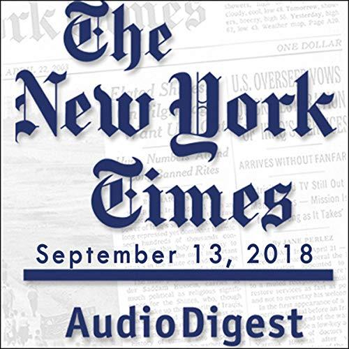 September 13, 2018 copertina
