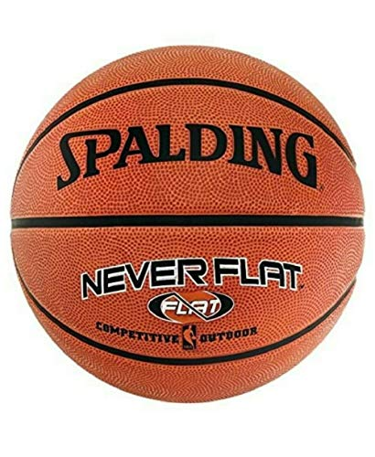 Spalding NBA Neverflat Outdoor - Balón de baloncesto (7), color naranja