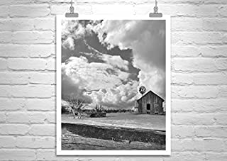 Horse Ranch Photography in Black and White, Western Picture