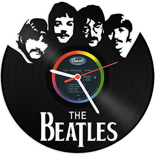 GRAVURZEILE The Beatles Wanduhr aus Vinyl Schallplattenuhr Upcycling Design-Uhr Wand-Deko Vintage-Uhr Wand-Dekoration Retro-Uhr Made in Germany