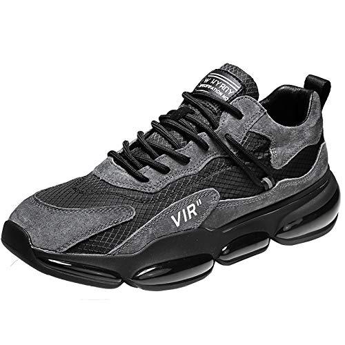 WYZDQ Zapatos De Correr para Hombre Zapatillas Deportivas Casuales Zapatillas De Deporte Antideslizantes Zapatos para Caminar Tenis Tenis Atlético Gimnasio Zapatos,Negro,US9.5 / UK8.5