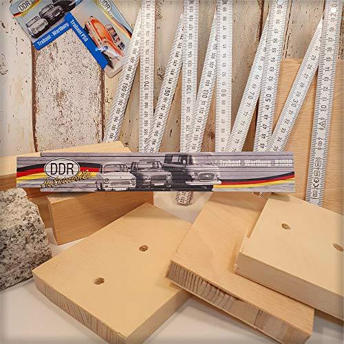 Ostalgie 2 Meter Zollstock mit Spruch, der DDR Meterstab Gliedermaßstab für Ostalgiker und Fans für Ostprodukte Ost Produkte (Zollstock: - Trabant Wartburg B1000 -)