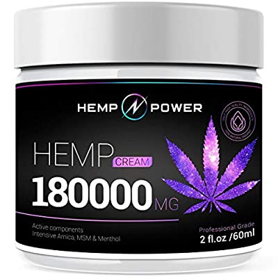 Hemp Power Pain Relief Cream - Relieves Muscle, Joint Pain, Lower Back Pain, Knees, and Fingers - Inflammation - Hemp Extract Remedy - Hemp Oil with MSM - Arnica 2fl oz from HEMP POWER