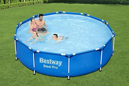Bestway Steel Pro Framepool ohne Pumpe, rund, 305 x 76 cm Pool, Blue, u00d8 Pools, Hot Tubs & Supplies