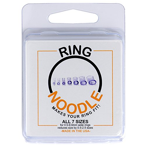 RING NOODLE Ring Guard/Ring Size Adjuster for Thin and Wide Rings - 7 pack (1 of each size) Fits...