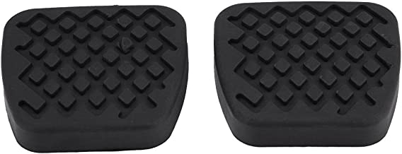 Qiilu 1 Pair of Brake Clutch Pedal Pad Rubber Cover for Honda Civic Accord CR-V Acura 46545-SA5-000
