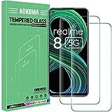 AOKUMA Cristal Templado OPPO Realme 8 5G, [2 Unidades] Protector Pantalla para OPPO Realme 8 5G Robusto Antiarañazos Antihuellas con Borde Redondeado Dureza 9H+ Antiburbujas