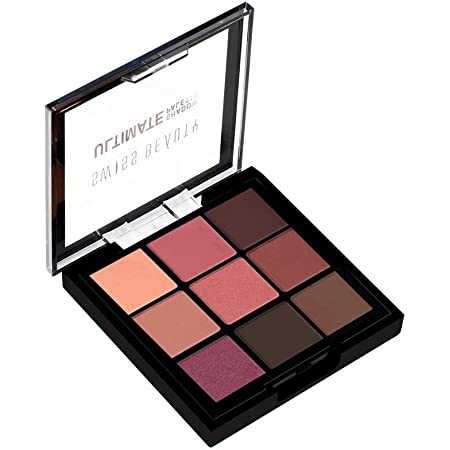 Swiss Beauty Ultimate 9 Color Eyeshadow Palette, Eye MakeUp, Multicolor-06, 9g