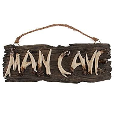 Liberty Imports Man Cave Sign Decorative Mancave Wooden Novelty Wall Decor