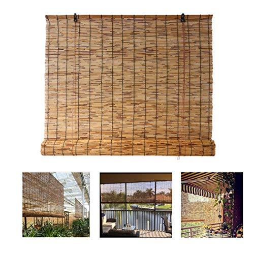 Außenrollos, Bambusvorhang, Schilfvorhang für Fenster/Tür/Terrasse/Garten, Mehrere Größen Bambusvorhang,W150xH200cm/59x78.5in