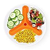 Estuyoya - Separador de Alimentos Evita Mezcla de Comida Control de Porciones Silicona Especial Alimentaria Sin BPA Efecto Ventosa Facilita Coger la Comida Régimen y Dietas - Triangulo