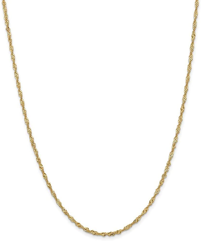 14k Singapore 保証 Chain Necklace Jewelry Gifts in 日本未発売 Rose Women Gol for