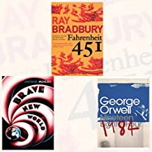 Fahrenheit 451,Brave New World and 1984 Nineteen Eighty-Four 3 Books Bundle Collection