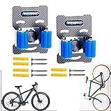 2 perchas de bicicleta, hebilla de aparcamiento para bicicletas, clips horizontales para bicicleta, soporte de almacenamiento para bicicletas de interior