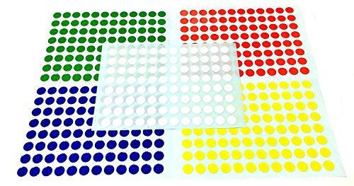 2400 PCS Circle Round Color Coding …
