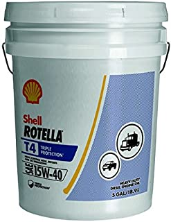 Rotella T4 Triple Protection Diesel Motor Oil 15W-40 CK-4, 5 Gallon