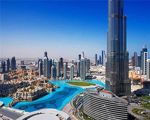 RHUA1000 pezzi di puzzle Dubai Burg Califa Panorama per bambini e adulti Gioco di giocattoli in legno educativo