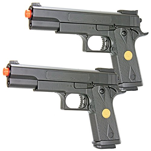 Price comparison product image bbtac dual spring p169 spring pistols 260 fps spring airsoft gun (two pack)(Airsoft Gun)