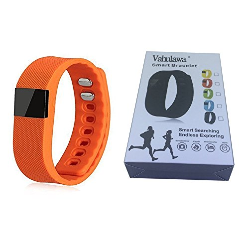 Vahulawa Fitness Tracker TW64 Smart Watch Bluetooth Watch Bracelet Calorie Counter Wireless Pedometer Sport Activity Tracker for iPhone Samsung Android iOS Phone (Orange)