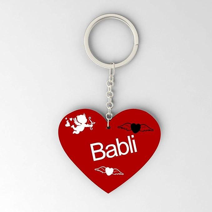 Gifts Zone Babli Name Beautiful Heart Shape Arclic