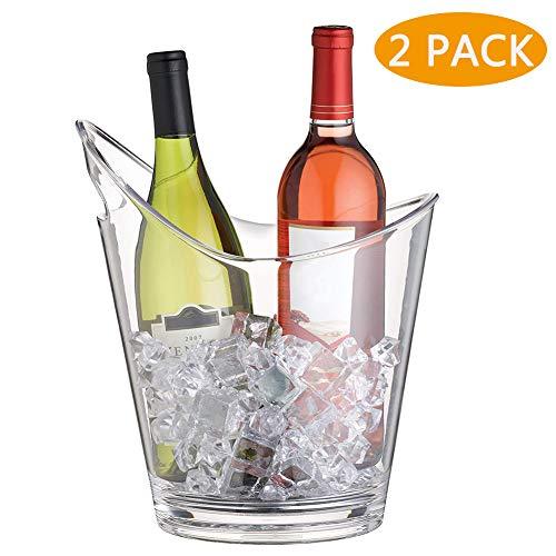 BEILENING 6L Eimer Champagner Eimer,EIS Eimer,Weinkühler,Durchsichtig
