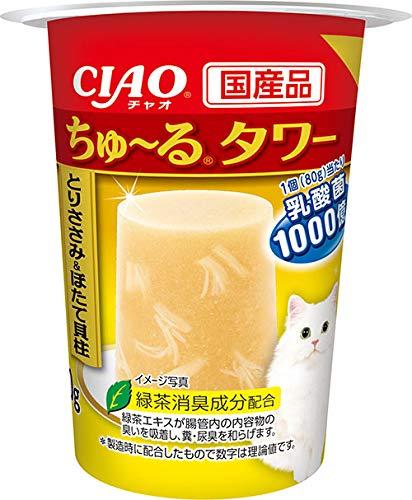 チャオ (CIAO) ちゅ~るタワー 猫用おやつ とりささみ&ほたて貝柱 -
