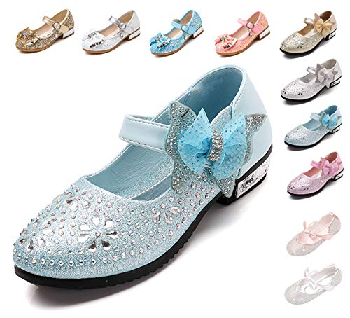 Kikiz Little Girl's Princess Dress Shoes Kids Mary Jane 12 M US Little Kid, A-blue