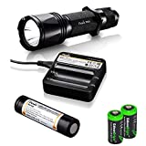 EdisonBright Fenix TK09 2016 900 Lumen Cree LED Tactical Flashlight with Fenix ARB-L2M Battery, Fenix are-C1 Battery Charger and Two CR123A Lithium Batteries Bundle