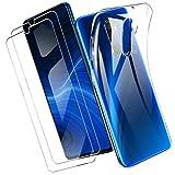 Yoowei para OPPO Realme X2 Pro Funda + [2-Pack] Cristal Templado, Transparente Suave Delgado TPU Silicona Carcasa con 2 Unidades Protector de Pantalla de Vidrio Templado para Realme X2 Pro