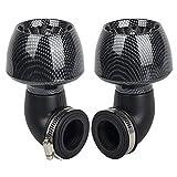 Oxoxo - Filtro de aire de alto rendimiento de 35 mm, 42 mm y 48 mm para cuadriciclo, motocross, kart, 150 cc y 250 cc; (2 unidades).