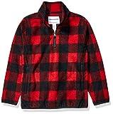 Amazon Essentials Quarter-Zip Polar Fleece Jacket Outerwear-Jackets, Exploded Red Buffalo Check, 4T