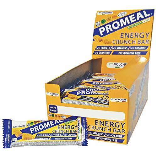 Volchem Promeal Energy Crunch/Barretta Energetica/Scatola da 30 Barrette da 40 g/Gusto Cacao