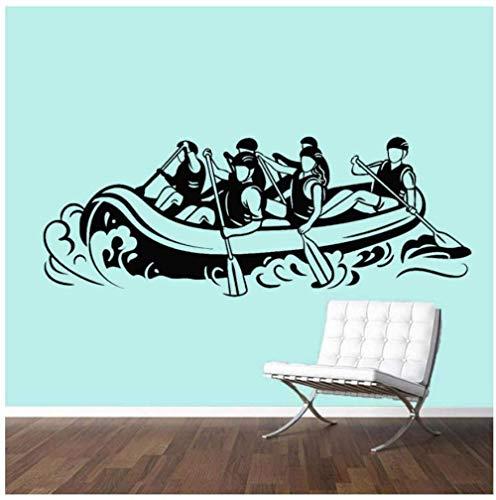 UYEDSR Pegatinas de Pared Calcomanía de Vinilo para Pared de Rafting Extremo Sala de Estar Kayak Deportes Remo Pegatinas de Pared Gimnasio decoración de Aula 42x108cm