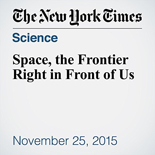 Space, the Frontier Right in Front of Us audiobook cover art