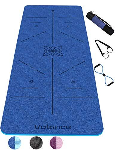 Tapis de Yoga Antidérapant, avec Lignes d