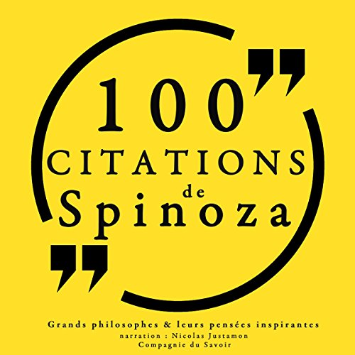 Couverture de 100 citations de Spinoza
