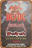 OSONA Acdc Metallica The Black Crowos Retro nostálgico arte tradicional color óxido logotipo de lata publicidad llamativa decoración de la pared regalo