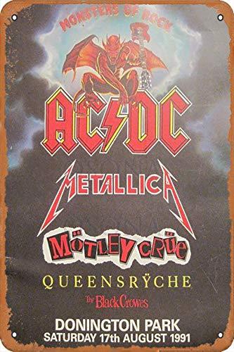 OSONA Acdc Metallica The Black Crowos Retro nostálgico arte tradicion