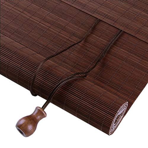 Jcnfa-rolgordijnen, jaloezieën, Maroon Fine Filaments bamboe, schaduw, anti-zonnebalkon, ventilatie, afsnijden, gordijn trekkoord