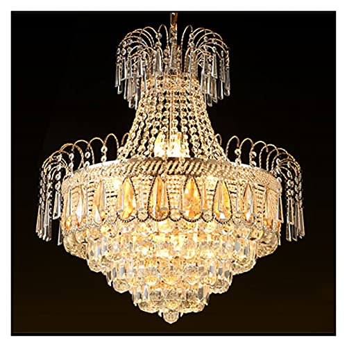 GZXYKJ Colgando Lámpara Moderno Dorado Lujo K9 Cristal Lámpara LED LED Restaurante Colgante Lámpara Lámpara Libra Iluminación (Lampshade Color : Dia50 X H60cm)