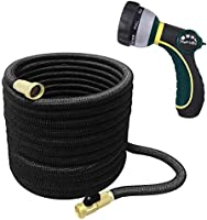 TheFitLife Best Expandable Garden Hose - 25/50/75/100 Feet Strongest Triple Core Latex and Solid Brass Fittings Free...