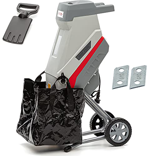 IKRA 73103501 trituradora eléctrica IMH 2500, Saco coletor, 45l, 2500W, Incl. Cuchillas Reversibles, W, Gris y Rojo